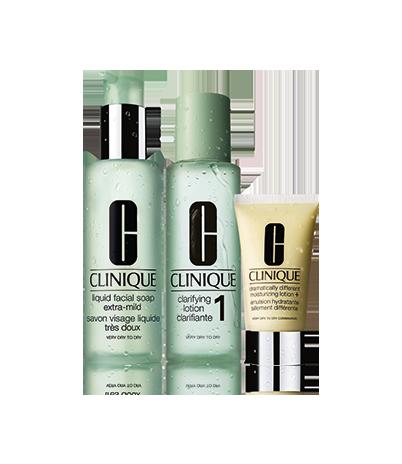 Набор средств 3-Ступенчатой Системы для 1 типа кожи 3-Step Set (Clinique)