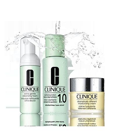 Набор 3-Ступенчатой Системы ухода для сухой и чувствительной кожи, 3-Step Extra Gentle Intro Kit (Clinique)