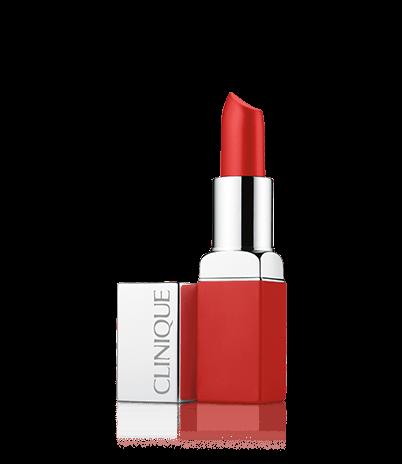 Матовая помада для губ: интенсивный цвет и уход Clinique Pop™ Matte Lip Colour + Primer - 11: Peppermint Pop от CLINIQUE